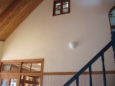 漆喰壁仕上げ